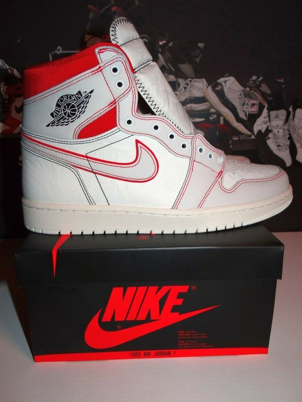 Nike Air Jordan 1 Retro High Phantom Gym Red  43 EU Limited Edition 555088-160 Deadstock